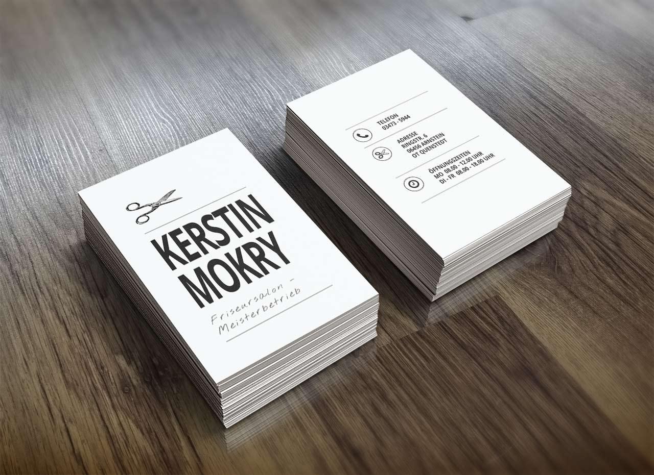 Visitenkarten Friseursalon Km Crispin Iven Mokry